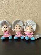 Disney Store Japan Alice In Wonderland Baby Young Oyster Plush Doll Set New