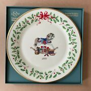 Lenox Annual Christmas Holiday Collector's Plate 1993 Rocking Horse  2 Nib