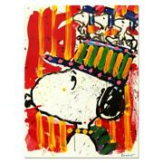 Tom Everhart Signed Why I Donand039t Wear Hats Lithograph Charles Schulz Peanuts Coa