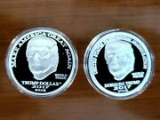 Two Tramp 2017,25 Msrp,donald J Trump,1 Oz 999 Silver,2 Coin.