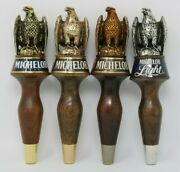 Vintage Michelob 9 Tall Small Wooden Eagle Beer Tap Handle Lot Of 4 Different