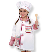 Melissa And Doug Chef Role Play Costume Set 3-6 Year Boy And Girls New