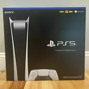 Ps5 In Hand - New Playstation 5 Digital Edition White Console System Latest