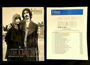 Frank + Gail Zappa Estate Sale Catalog -sealed- W/ 17 Pgs Final Prices Beefheart