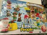 Fisher Price Little People Christmas Advent Calendar W 24 Pcs  And  Box  Lnw