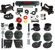 Complete Bolt On Air Ride Suspension Kit Manifold Bags Steel For 1958-64 Gm Cars