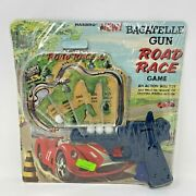 New Vintage Hasbro Bagatelle Gun Road Race Game Nos Action Skill Toy Sealed 1967
