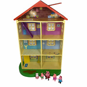Peppa Pig Lights And Sounds Family Home Playset - 95765 House And Figures