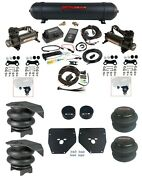 Complete Air Ride Suspension Kit W/480 Black And 27685 Air Lift 3p For 1973-87 C10