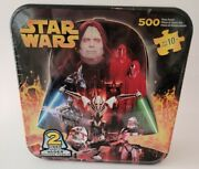 Star Wars 500 Piece 2 Sided Darth Vader Shaped Puzzle Collectible Tin Case New