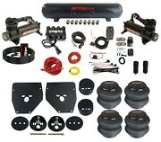 Complete Air Ride Suspension Kit 3/8 Evolve Manifold Bags Tank 480 For 63-72 C10