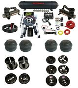 3 Preset Complete Bolt On Air Ride Kit W/manifold And 480 Black For 65-70 Cadillac