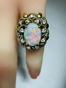 Antique 14k Gold Diamond And Opal Ring By Jack Gutschneider Aituzzi Jewelry