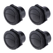 4pcs 2.36 X 2.55 Inch Round Air Vent Louver, Air Conditioner Deflector Grill