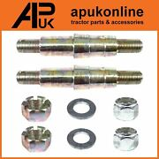 2 X Link Arm Mounting Pins + Nuts For Ferguson Tea20 Ted20 Tef20 T20 Tractor