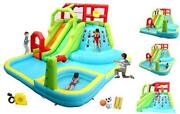 Inflatable Water Slide Park With Splash Pool Climb The Wall 3 Inflatable