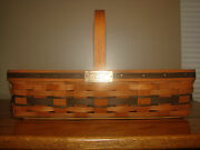 Longaberger Jw Collection 1988 Medium Gathering Basket With Protector And Product