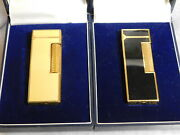 Lot Of 2 Dunhill Lighter Lacquer Color Full Overhauled With Box Vol.2