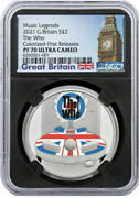 2021 Uk Music Legends The Who 1oz Silver Proof Colorized £2 Coin Ngc Pf70ucfr Co