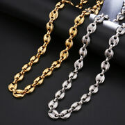 Stainless Steel Coffee Beans Marina Link Necklace Unisex Chain Choker