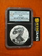 2013 W Reverse Proof Silver Eagle Ngc Pf70 From West Point Eagle Set Black Core