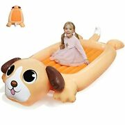 Kids Inflatable Travel Bed Portable Air Mattress For Toddlers Blow Up Fun Puppy