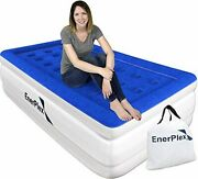 Twin Air Mattress - Luxury 16-inch Double Height Inflatable Bed W/ Built In Pump