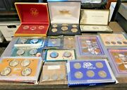 Lot Of Mixed Coin Collection From Estate, Proof And Mint Sets Uncirculated