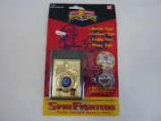 1993 Bandai Mighty Morphin Power Rangers Launcher And Spin Fighters Spinner Tops