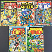 Nick Fury And His Agents Of Shield 1-5 Marvel Comic Books Full Series Unliving