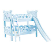 Miniature Plastic Bunk Bed Furniture Toys For Mellchan Baby Dolls Decor Blue