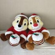 Tokyo Disney Store Exclusive Chip And Dale Big Plush Christmas 2004 Limited