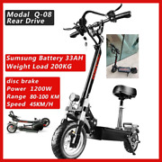 Dual Motor Electric Scooter For Adult Fat Tire And Fast Speed 1200w 48v Foldable