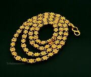 22kt Yellow Gold Fabulous Floral Chain Customized Brides Necklace Ch261