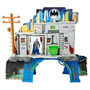 Dc Comics Batman 3 In 1 Batcave Playset And Exclusive 4 Action Figure New Fast
