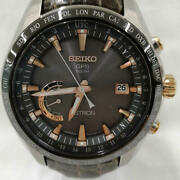 Seiko Astron 8x22-0ag0-2 Japan Date World Time Gps Solar Mens Watch Auth Works