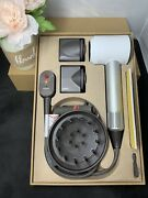 Dyson Supersonic Hair Dryer - Iron White Edition Hd01 All Attachments Tested