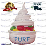 11.5x16ft Inflatable Yogurt Ice Cream Advertising Promotion With Air Blower