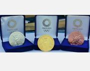 2020 Tokyo Japan Olympic Gold Silver And Bronze Set Commemorative Medallion Medal