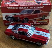 Diecast 1966 Shelby Gt350 Red White Stripe - Carroll Shelby Signed - Ltd Ed 118