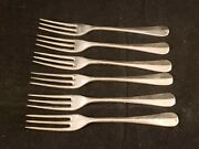 Lot Of 6 Stieff Williamsburg Queen Anne Sterling Silver Salad Forks  A
