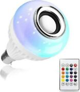 Led Rgb Bluetooth Speaker Bulb Wireless Music Playing Light Lamp With Remote Con