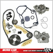 Timing Chain Kit Oil Water Pump Gasket Oiler Bolts Fit 00-08 Chevrolet Pontiac
