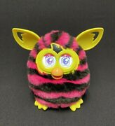2012 Hasbro Furby Boom Pink And Black Stripes Yellow Ears Feet Works Great