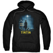 The Adventures Of Tintin Title Poster Pullover Hoodie Or Long Sleeve Tee