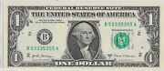Binary Note B 53335355 A 1 Unc Gem Extra Crispy Dollar Bill 4-3and039s 4-5and039s