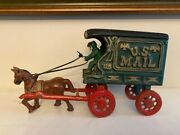 Cast Iron Toy 128 Mail Wagon C. 1950 In Champion Hubley Arcade Toy Style