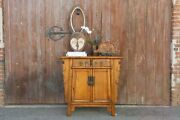 Mid Century Natural Elm Ming Style Buffet Cabinet
