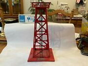 Vintage Lionel 394 Rotating Beacon Tower - Red With Original Box O Gauge