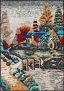 Ls075 33.46andtimes47.24 Colorful Trees Handmade Marble Mosaic Landscape